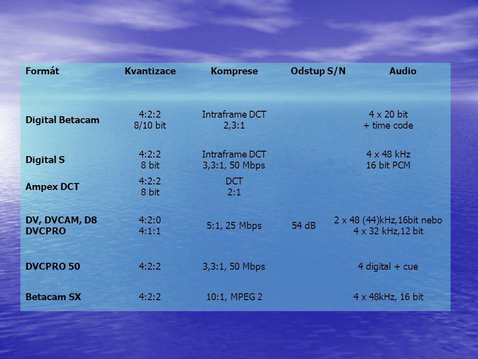 2 x 48 (44)kHz,16bit nebo 4 x 32 kHz,12 bit