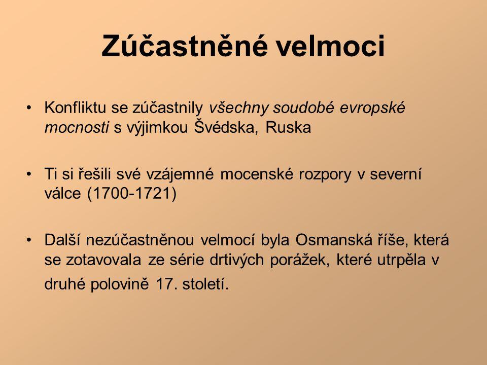 Zúčastněné velmoci Konfliktu se zúčastnily všechny soudobé evropské mocnosti s výjimkou Švédska, Ruska.