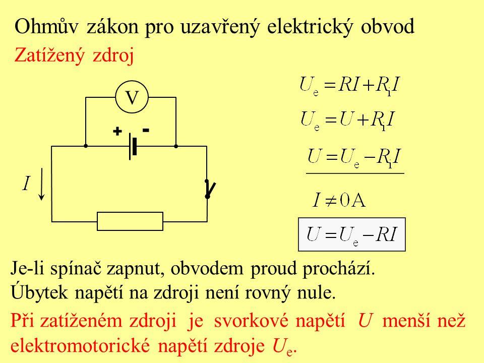 Ohmův zákon pro uzavřený elektrický obvod