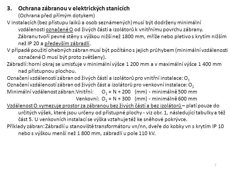 3. Ochrana zábranou v elektrických stanicích (Ochrana před přímým dotykem)