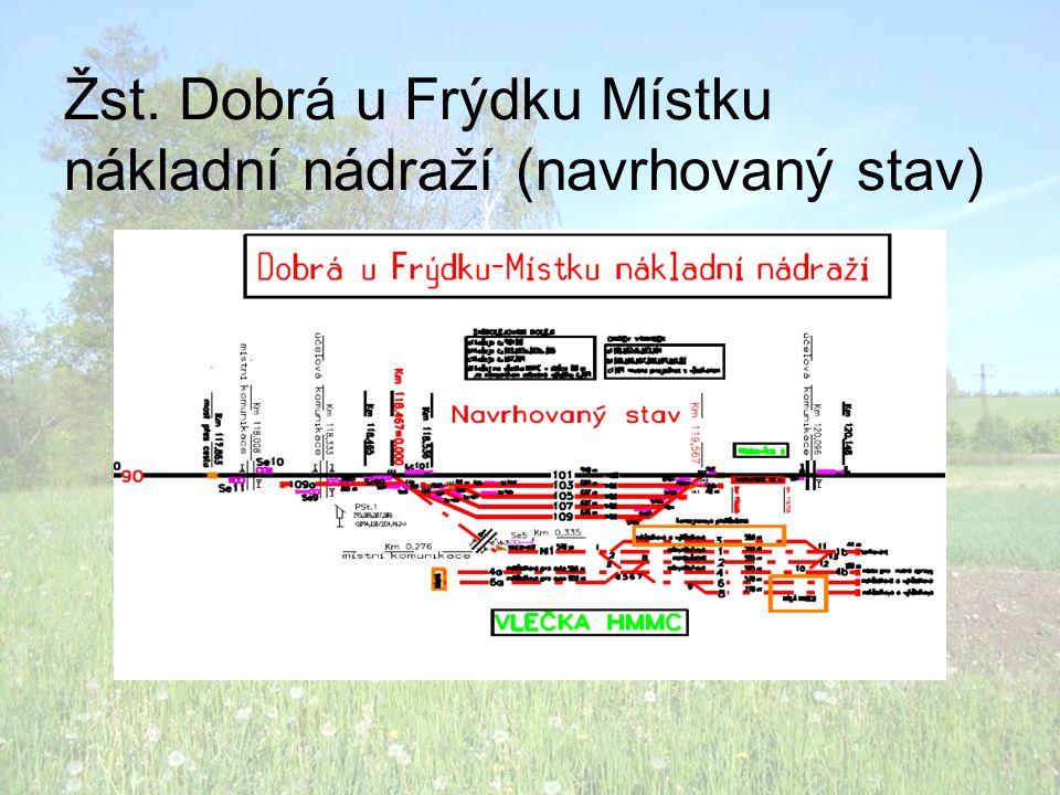 Žst. Dobrá u Frýdku Místku nákladní nádraží (navrhovaný stav)
