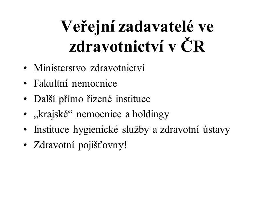 Veřejní zadavatelé ve zdravotnictví v ČR