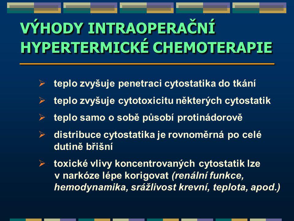 HYPERTERMICKÉ CHEMOTERAPIE