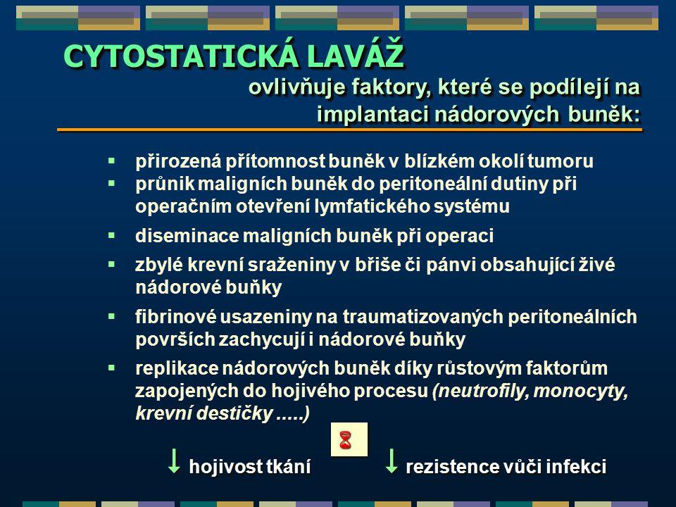  hojivost tkání  rezistence vůči infekci