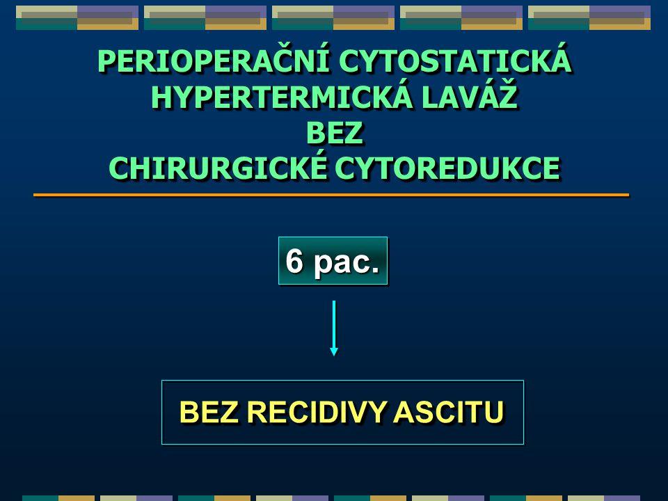 PERIOPERAČNÍ CYTOSTATICKÁ CHIRURGICKÉ CYTOREDUKCE