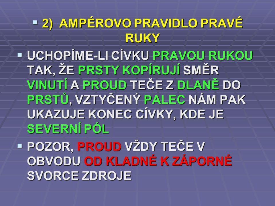 2) AMPÉROVO PRAVIDLO PRAVÉ RUKY