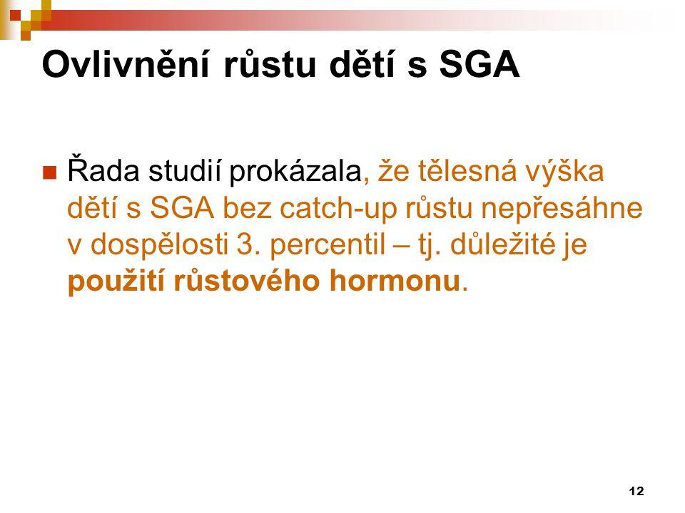 Ovlivnění růstu dětí s SGA