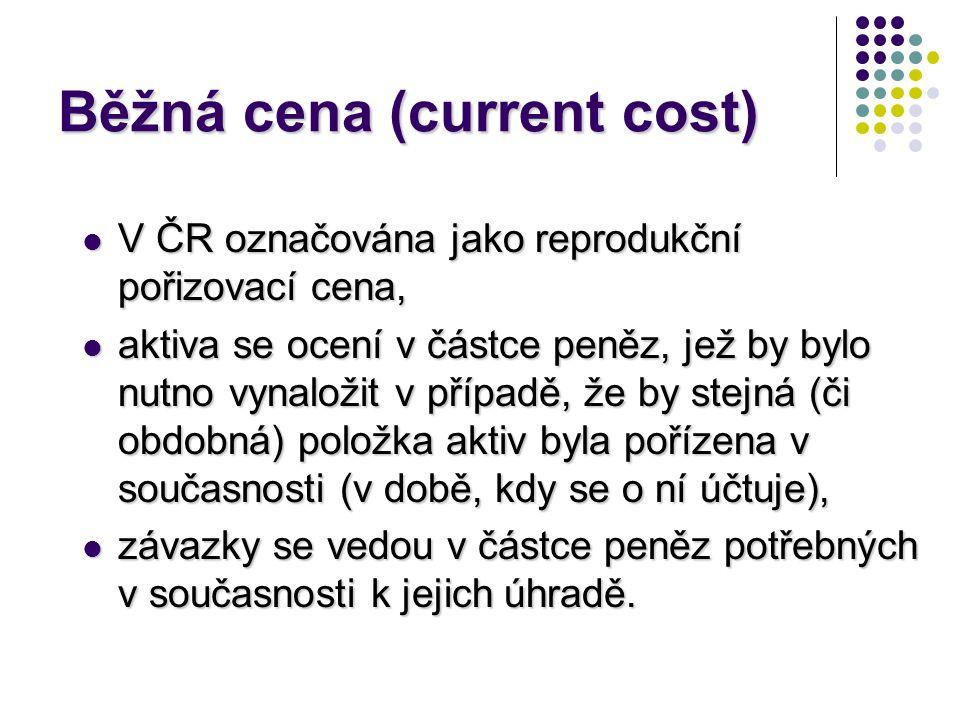 Běžná cena (current cost)