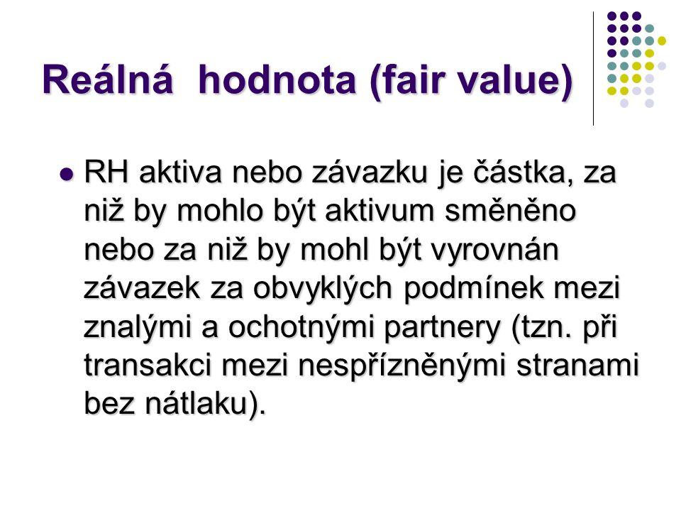 Reálná hodnota (fair value)