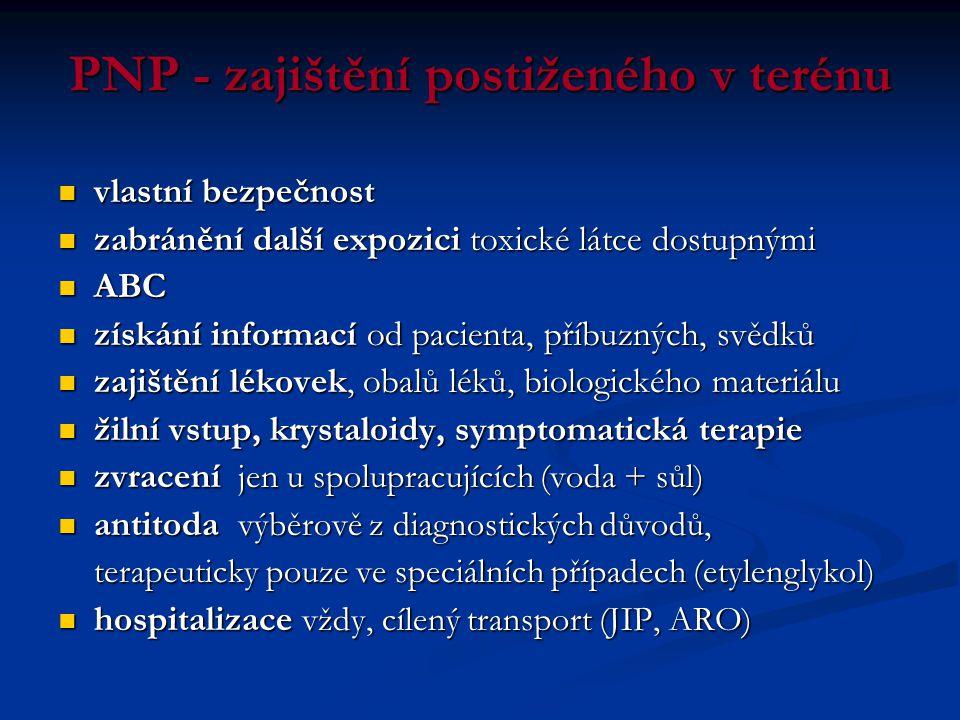 PNP - zajištění postiženého v terénu