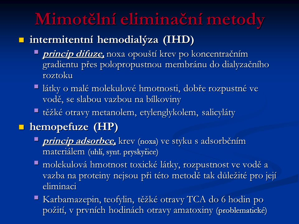 Mimotělní eliminační metody