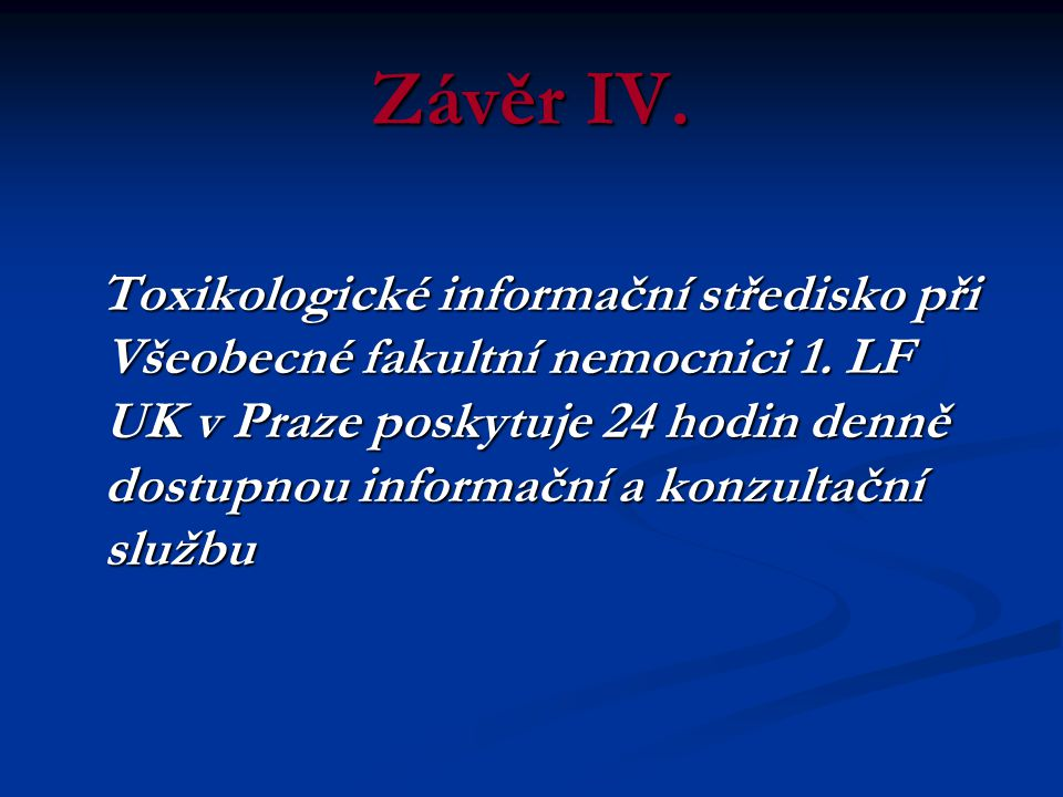 Závěr IV.