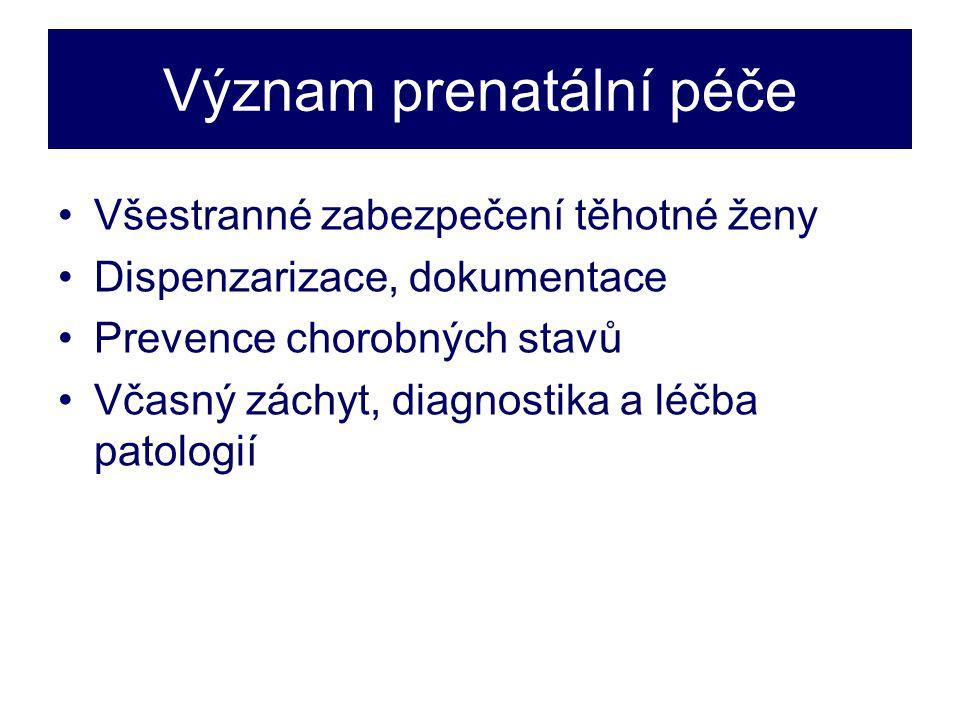 Význam prenatální péče