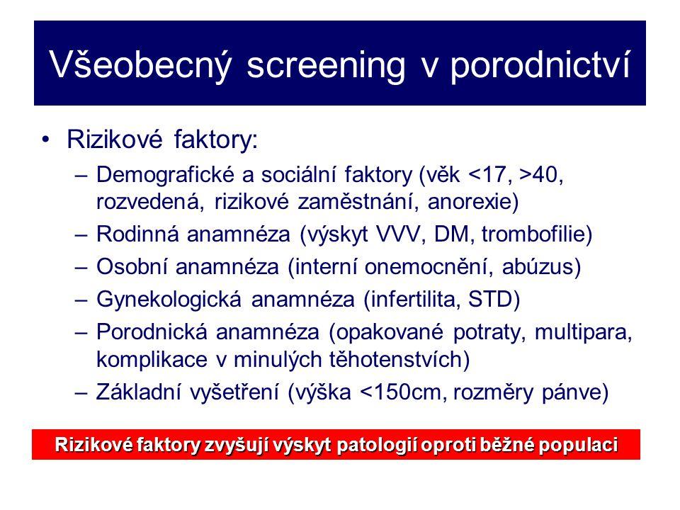 Všeobecný screening v porodnictví