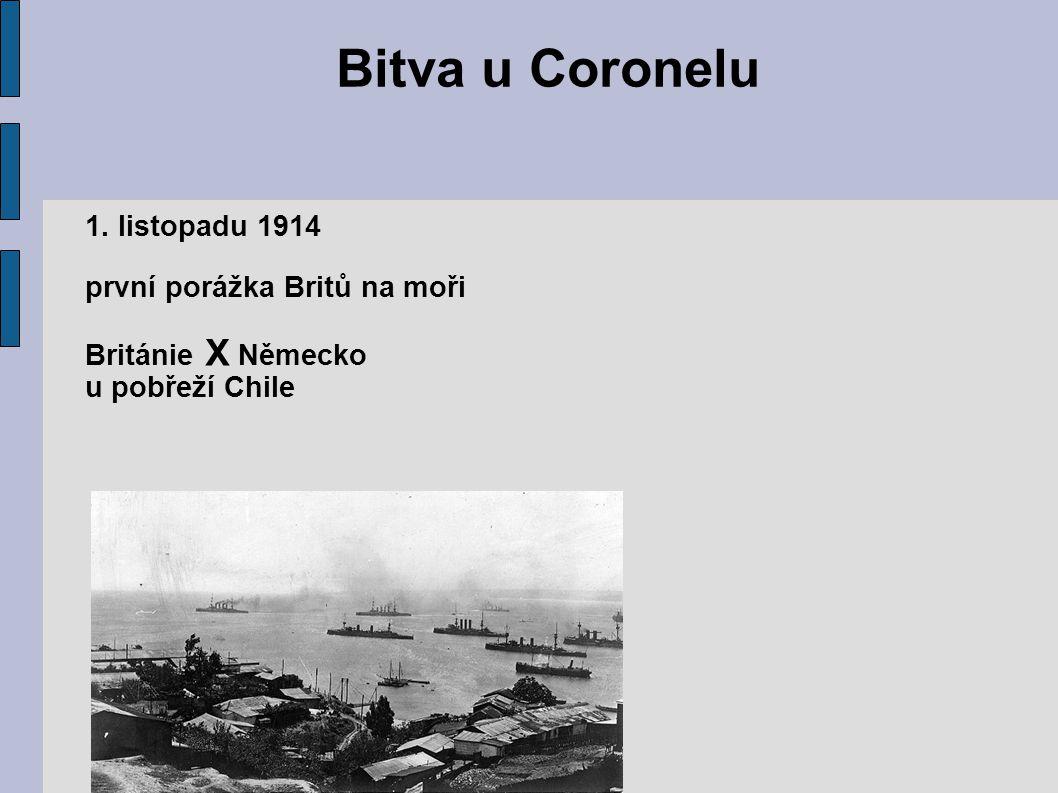 Bitva u Coronelu 1. listopadu 1914 první porážka Britů na moři