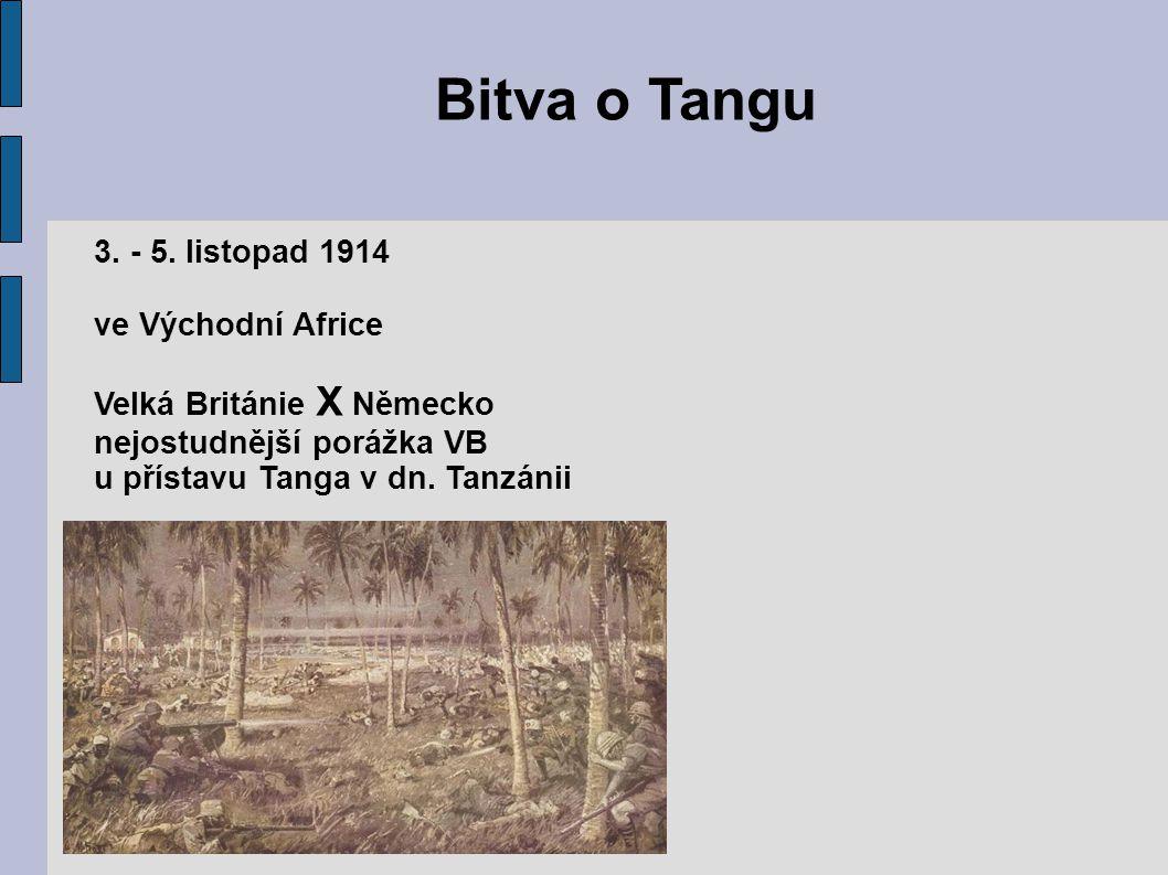 Bitva o Tangu 3. - 5. listopad 1914 ve Východní Africe
