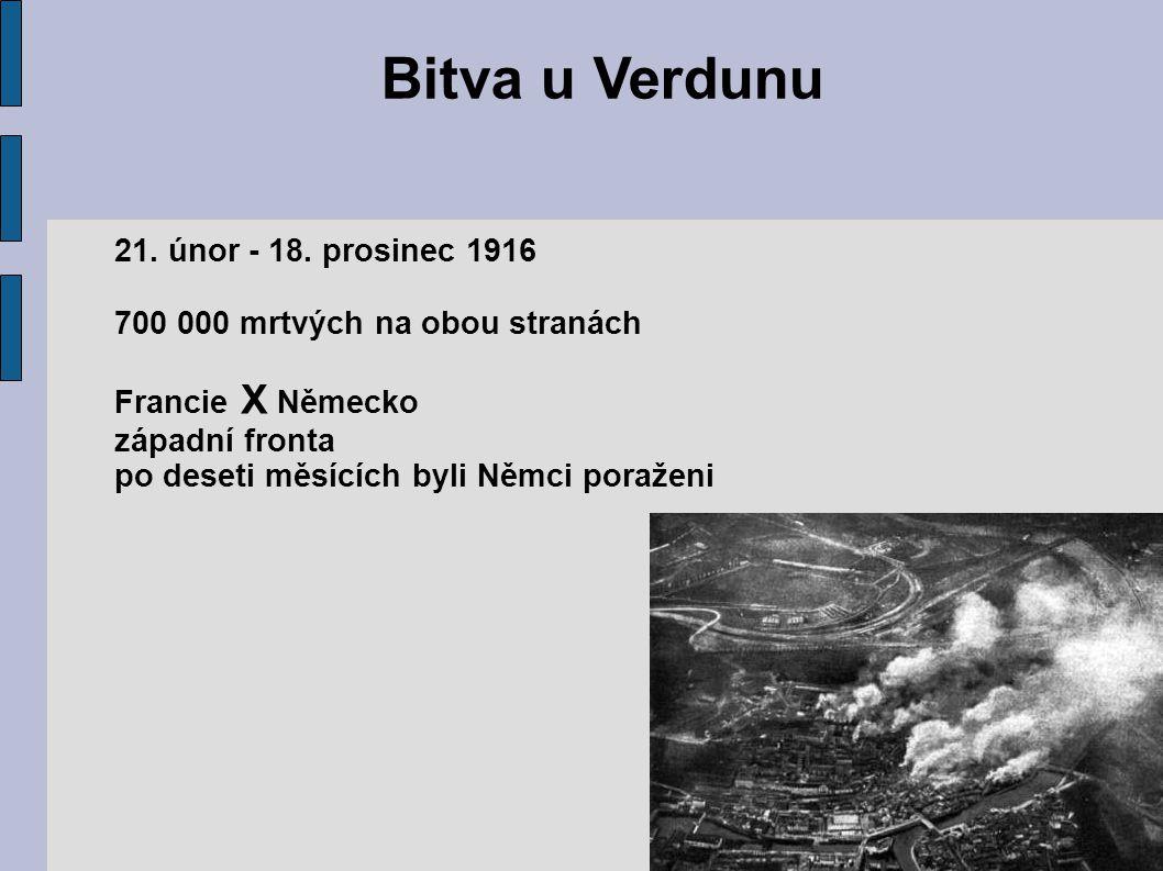 Bitva u Verdunu 21. únor - 18. prosinec 1916