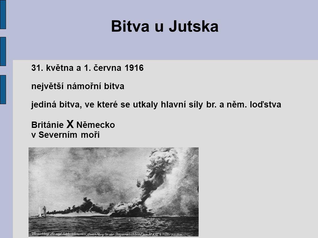 Bitva u Jutska 31. května a 1. června 1916 největší námořní bitva