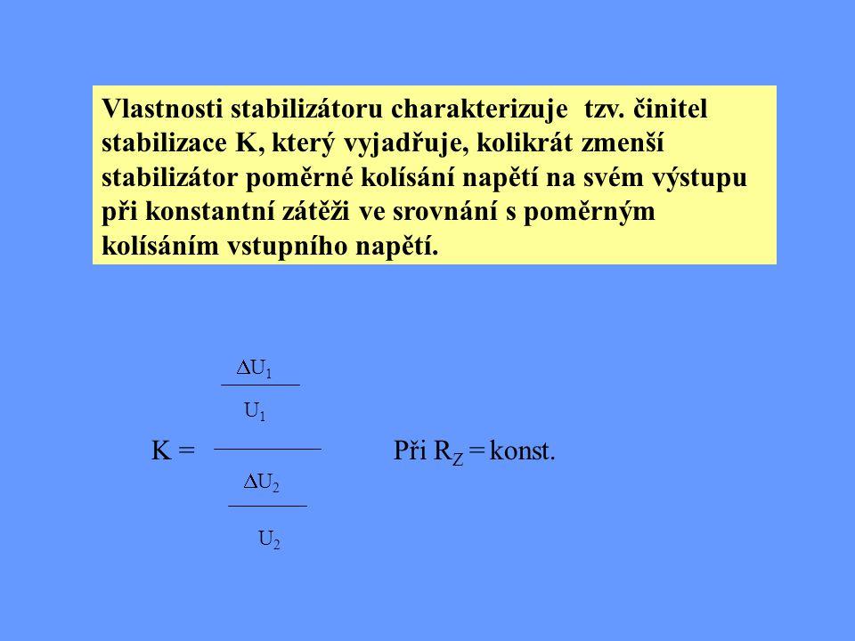 Vlastnosti stabilizátoru charakterizuje tzv