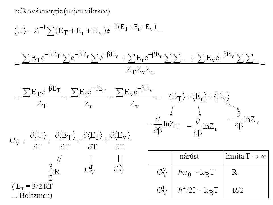 celková energie (nejen vibrace)