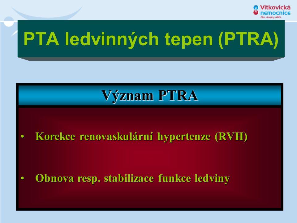 PTA ledvinných tepen (PTRA)