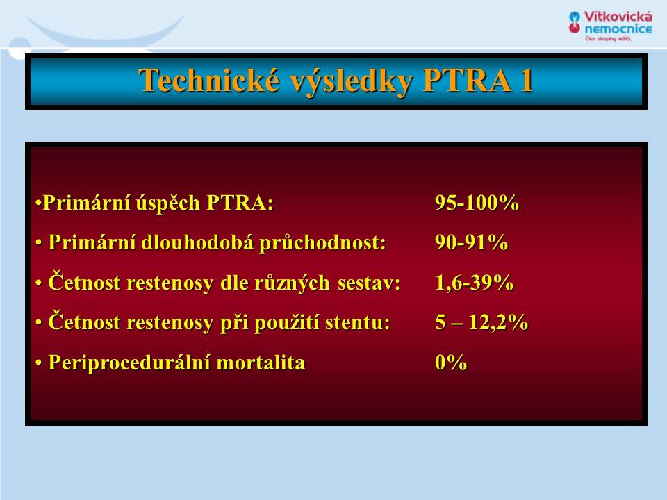 Technické výsledky PTRA 1