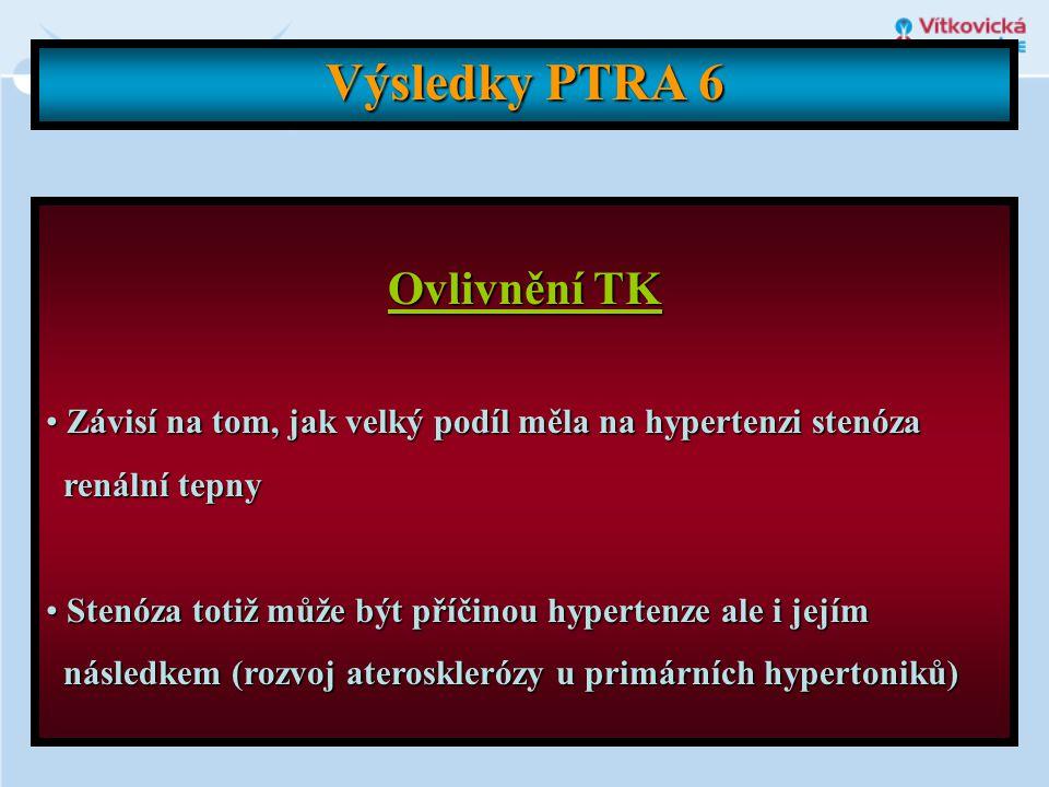 Výsledky PTRA 6 Ovlivnění TK