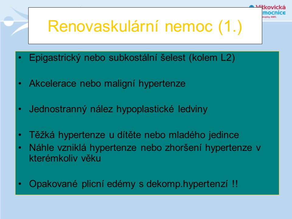 Renovaskulární nemoc (1.)