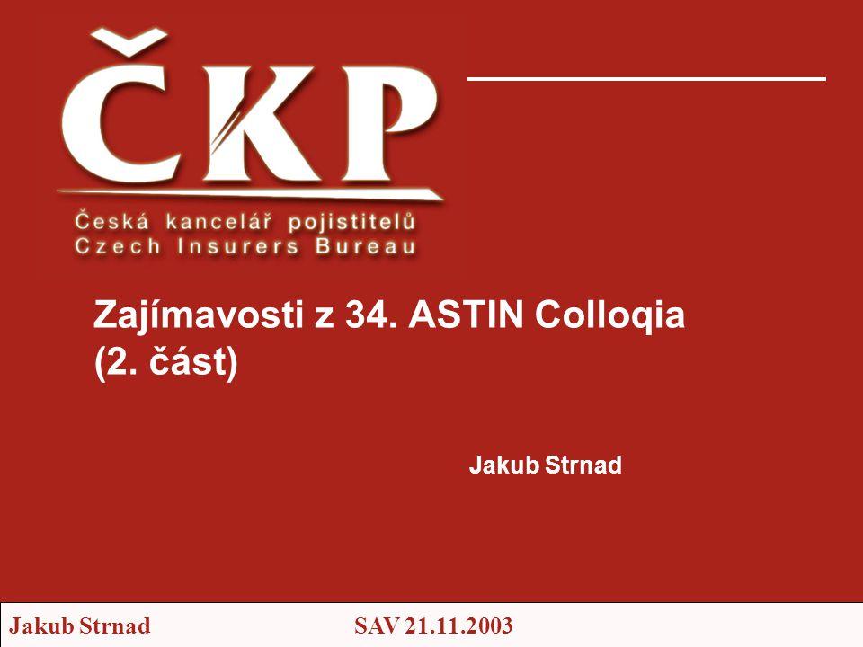 Zajímavosti z 34. ASTIN Colloqia (2. část)
