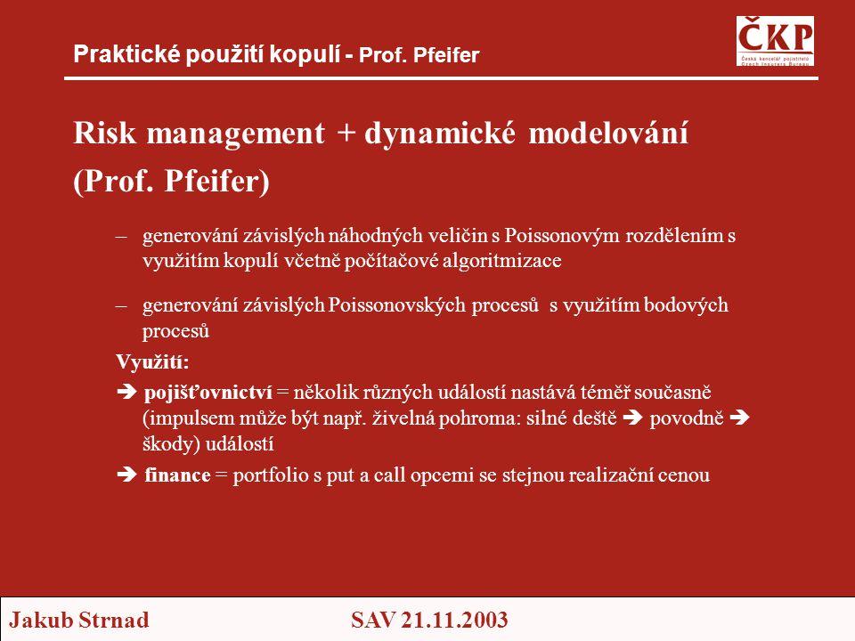Praktické použití kopulí - Prof. Pfeifer
