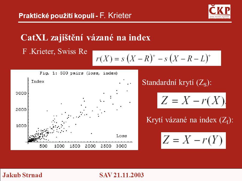 CatXL zajištění vázané na index
