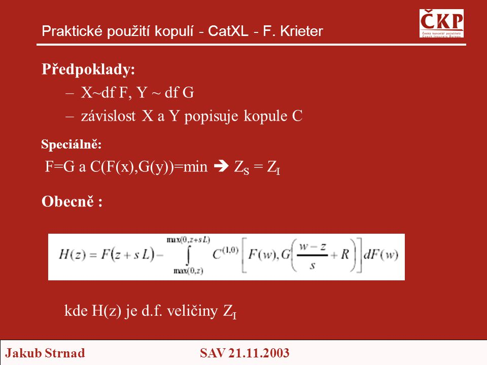 Praktické použití kopulí - CatXL - F. Krieter