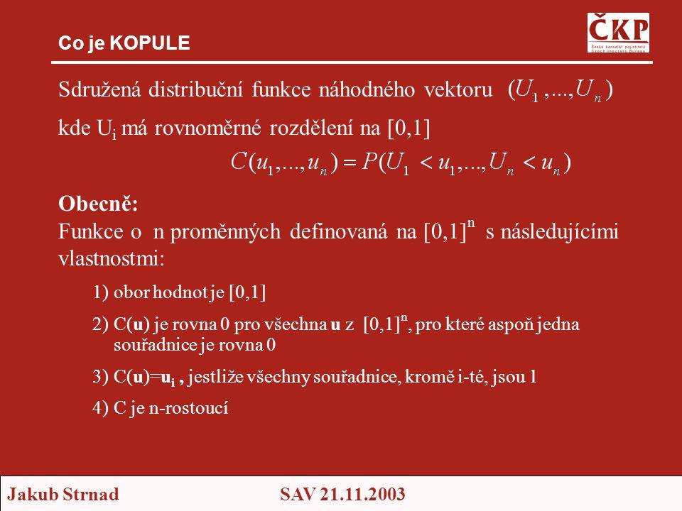 Sdružená distribuční funkce náhodného vektoru
