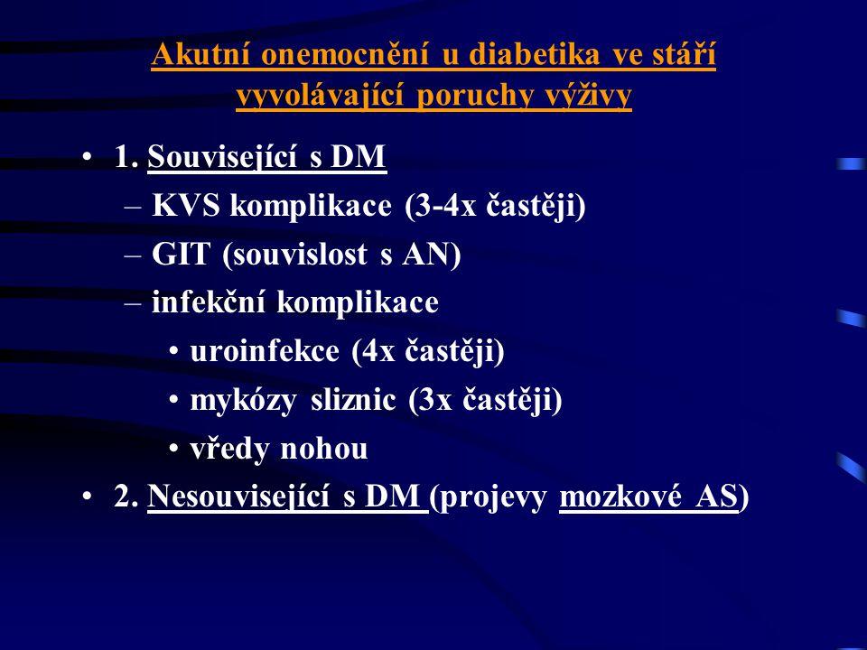 Akutní onemocnění u diabetika ve stáří vyvolávající poruchy výživy