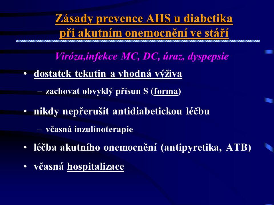 Zásady prevence AHS u diabetika při akutním onemocnění ve stáří