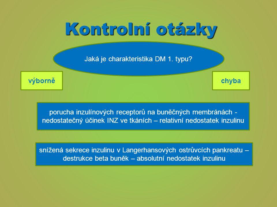Jaká je charakteristika DM 1. typu