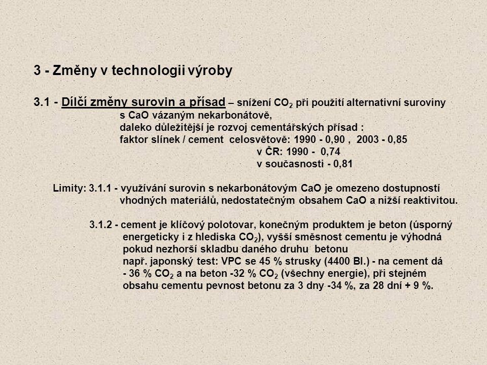 3 - Změny v technologii výroby