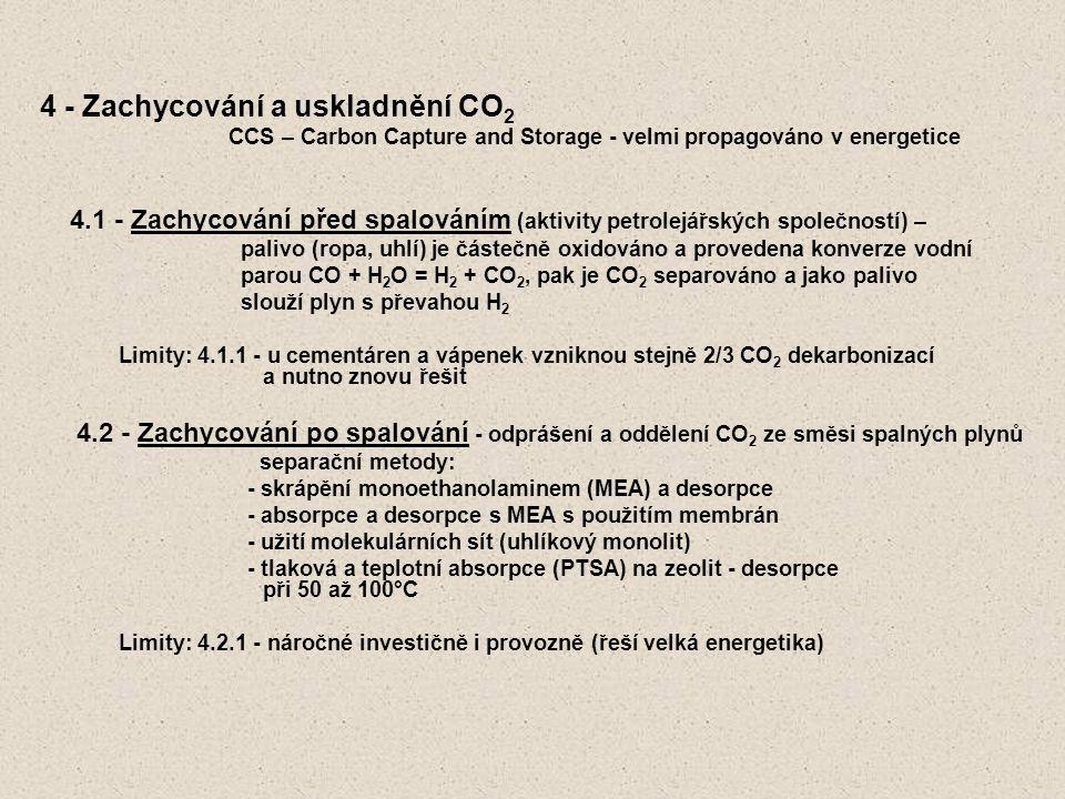 4 - Zachycování a uskladnění CO2
