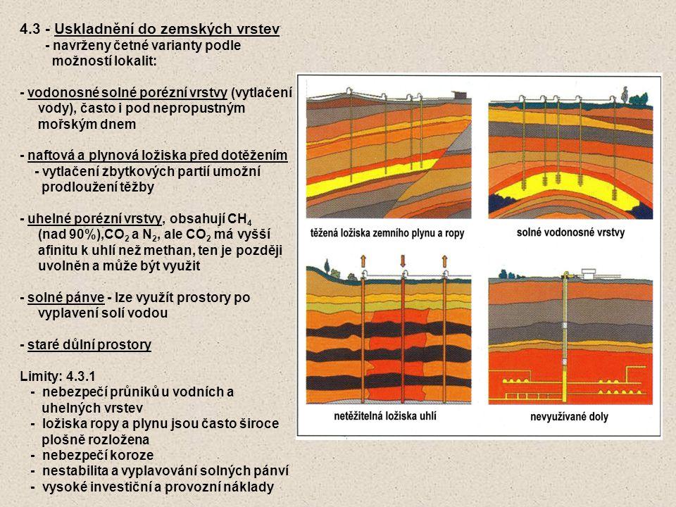 4.3 - Uskladnění do zemských vrstev