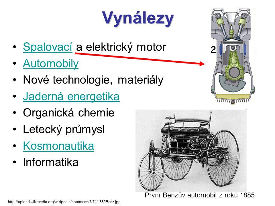 Vynálezy Spalovací a elektrický motor Automobily