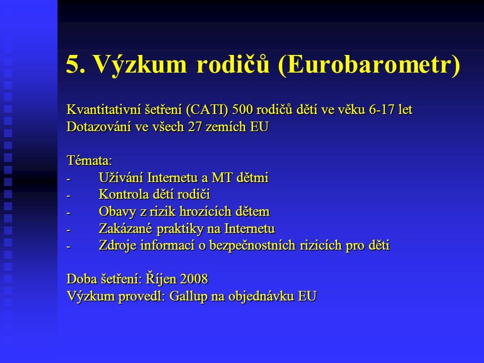 5. Výzkum rodičů (Eurobarometr)