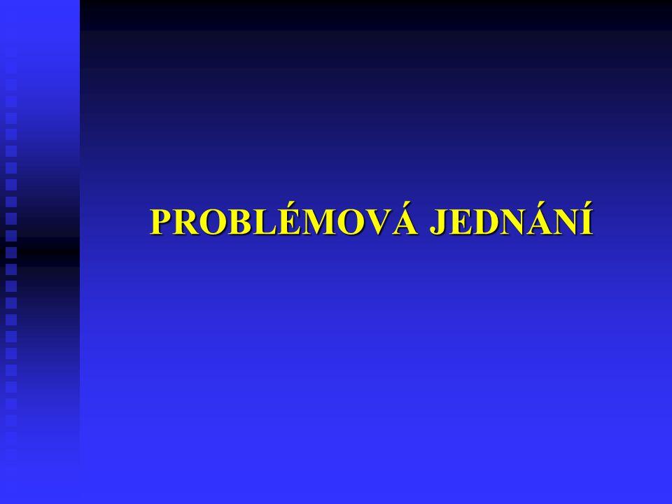 PROBLÉMOVÁ JEDNÁNÍ 18