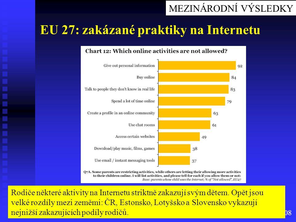 EU 27: zakázané praktiky na Internetu