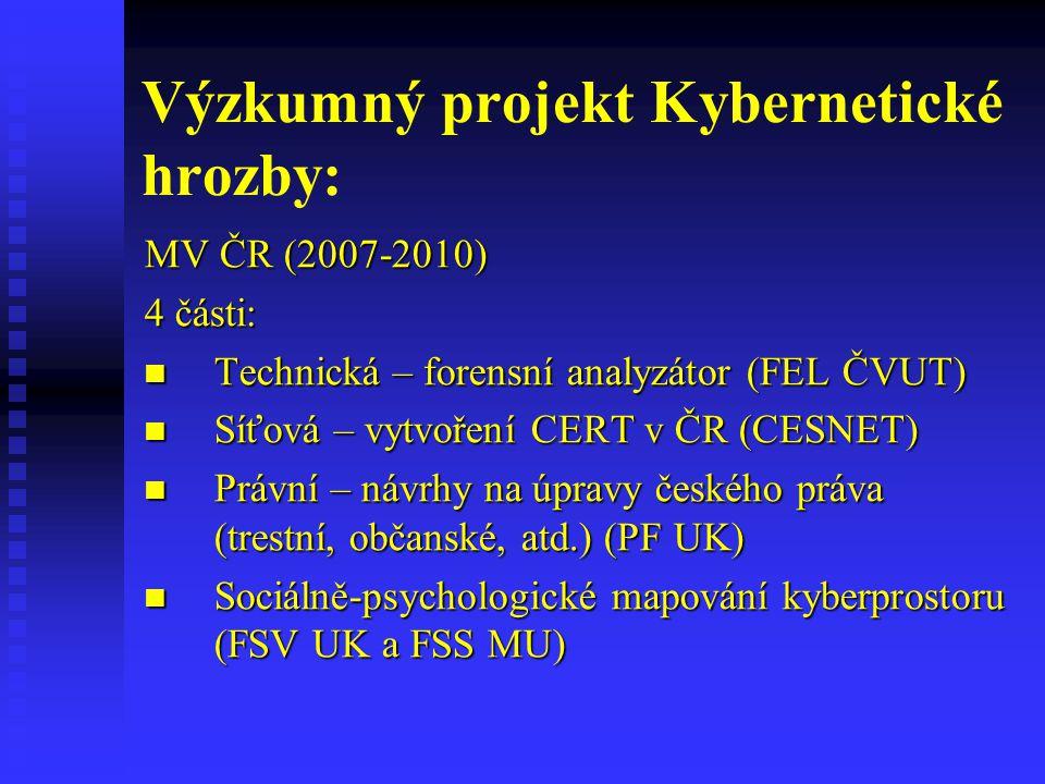 Výzkumný projekt Kybernetické hrozby: