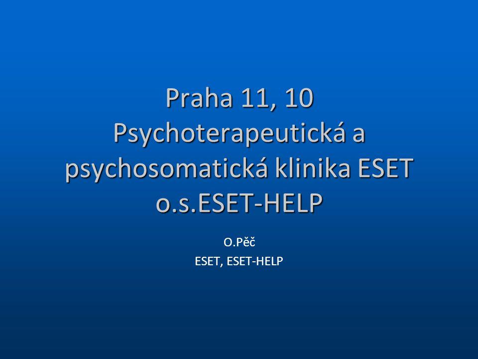 Praha 11, 10 Psychoterapeutická a psychosomatická klinika ESET o. s