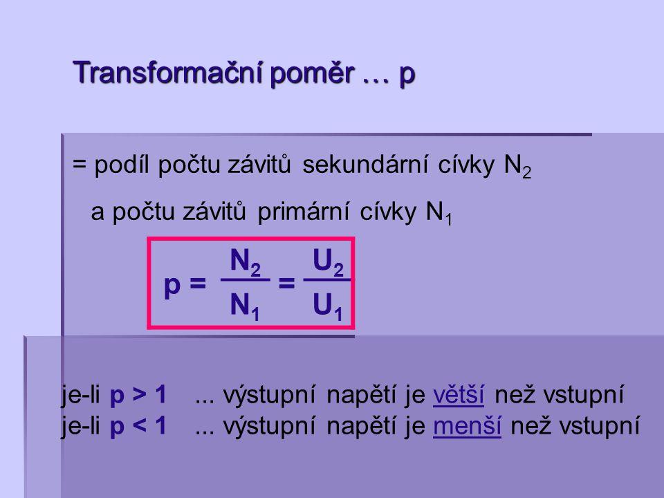 Transformační poměr … p