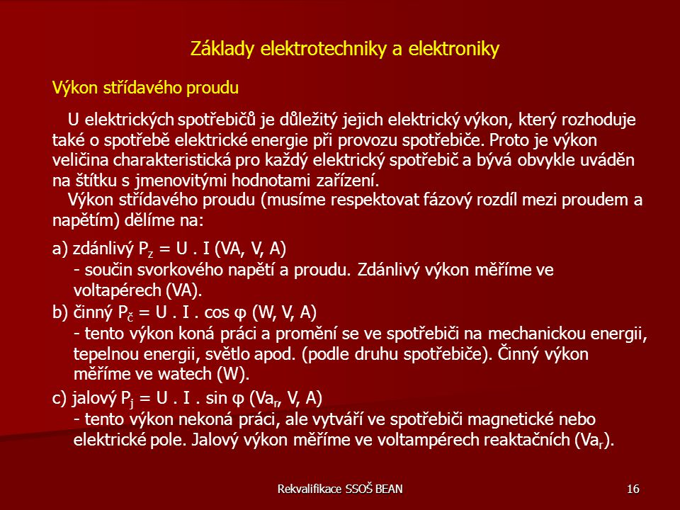 Základy elektrotechniky a elektroniky