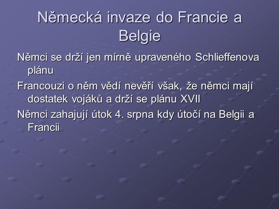 Německá invaze do Francie a Belgie