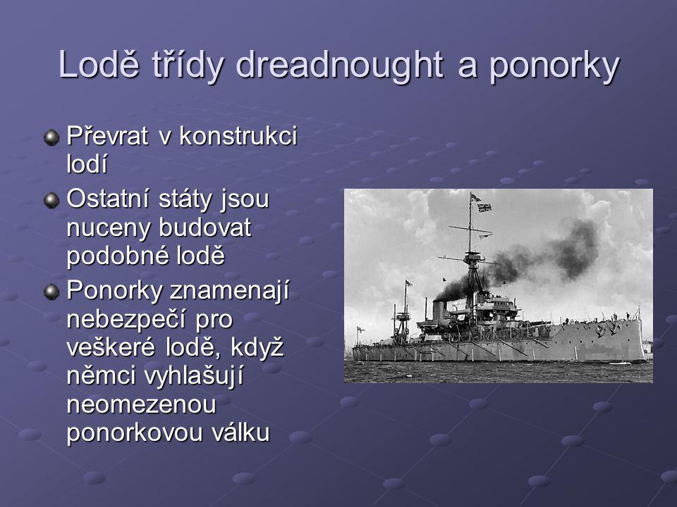 Lodě třídy dreadnought a ponorky