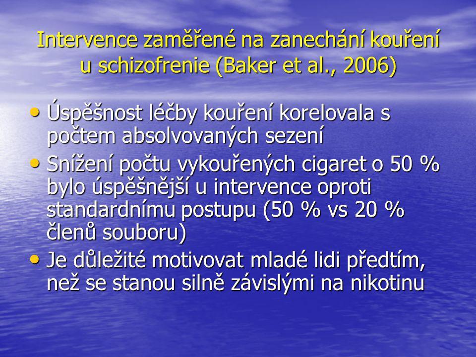 Intervence zaměřené na zanechání kouření u schizofrenie (Baker et al